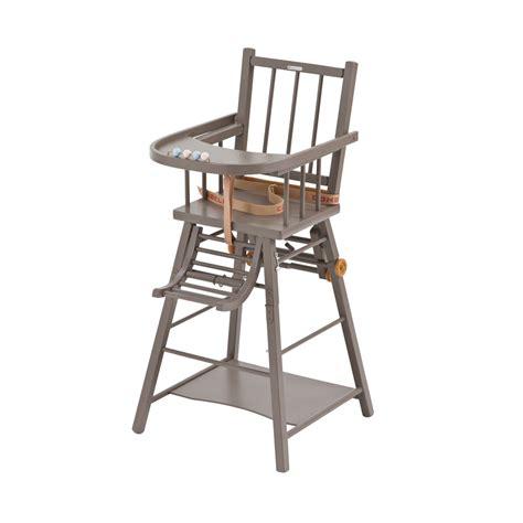combelle chaise haute chaise haute transformable laqué taupe combelle pour
