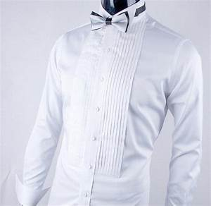 new style white men wedding prom groom shirts white long With wedding dress shirts for groom