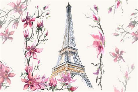 paris clipart watercolor clipart eiffel tower