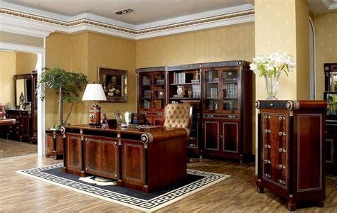 bureau de direction luxe 0010 antique wooden office table spain design
