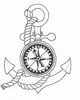 Compass Tattoo Coloring Pages Tattoos sketch template