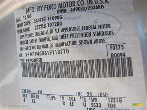 2001 mustang color code yn for silver metallic photo 38542083 gtcarlot com