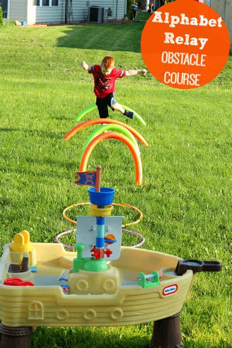 preschool obstacle course ideas summer alphabet relay obstacle course for preschoolers 121