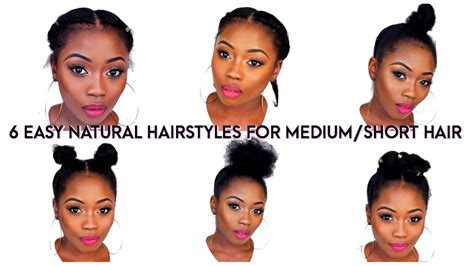 6 Back To School Quick Natural Hairstyles For Short/medium