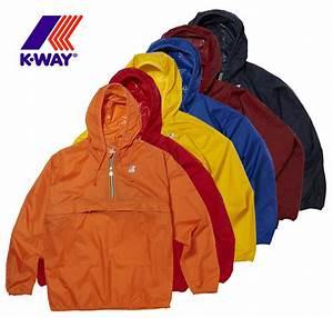 K-WAY Leon Classic Half Zip Kangaroo Pocket Waterproof Hooded FESTIVAL Jacket   eBay