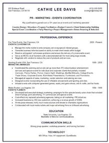 planner resume objective event manager resume