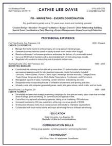 curriculum vitae event coordinator customer service coordinator resume objective