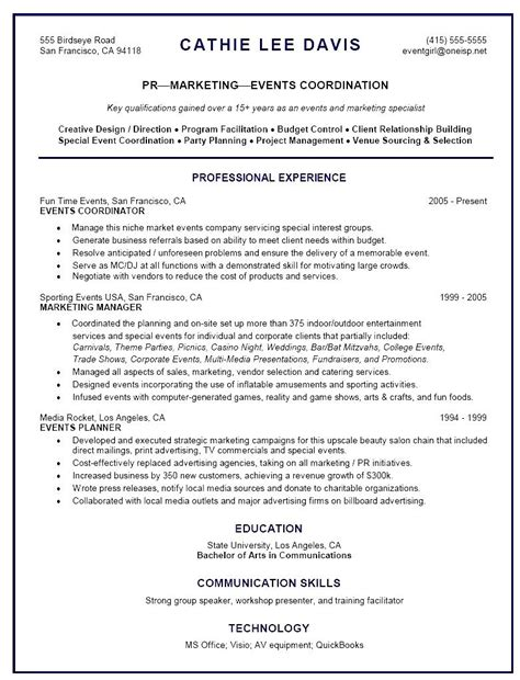 Planner Resume by Sle Cover Letter For Hr Coordinator