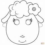 Sheep Mask Printable Coloring Pages Template Supercoloring Clipart Face Outline Masks Animal Templates Drawing Paper Printables Cartoon Books Sheets Crafts sketch template