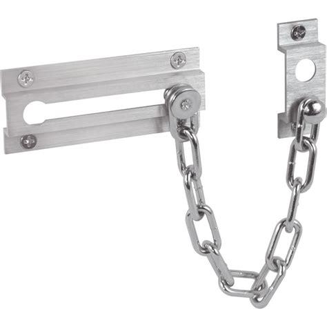 chain lock for door prime line satin nickel chain door lock the home depot
