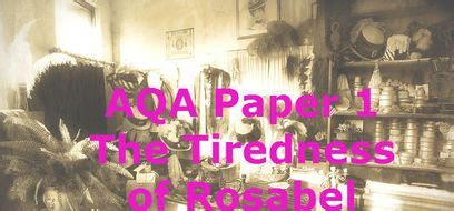 aqa english language paper   tiredness  rosabel teaching resources