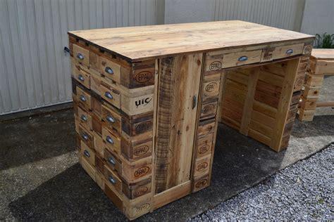 bureau bois de bureau en bois de palette creation palette