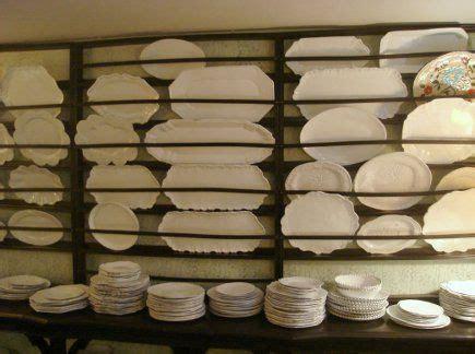 large wooden plate rack   hip parisian accessories store called astier de villatte shows