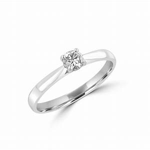 025ct round diamond 18ct white gold engagement ring With 18ct gold wedding rings with diamonds