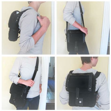 easy diy transforming purse backpack