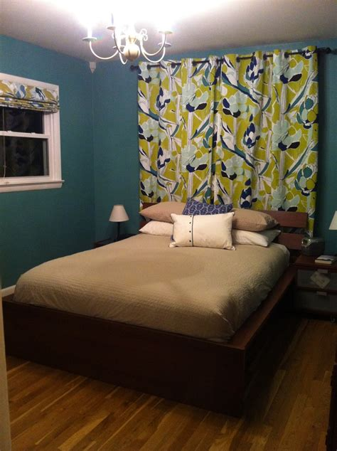 almost finished ikea janette curtains and fabric on the