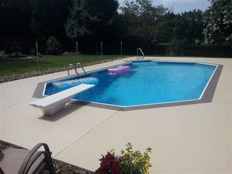 revive  pool deck  decorative concrete port