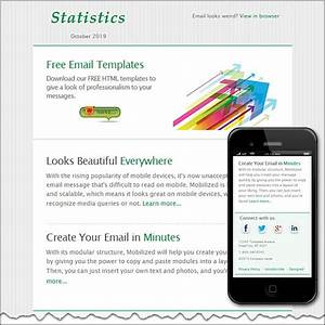 Statistics free html e mail templates for Create html email template online