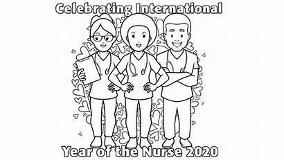Colouring Nurses Activity Lhsc Nurse Hospital Support