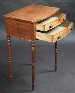 side table with two drawers george 1v mahogany 2 drawer bowfront side table