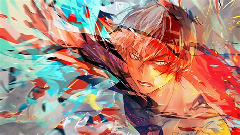 shoto todoroki  hero academia hd anime  wallpapers