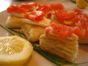 Smoked Salmon Puff Pastry Appetizer