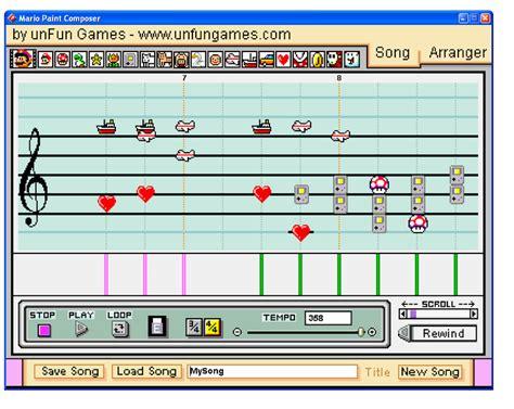 Tetris theme [mario paint composer ♫ advanced mario sequencer.