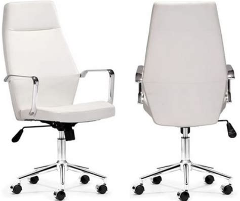 zuo modern 205146 holt high back office chair white pu
