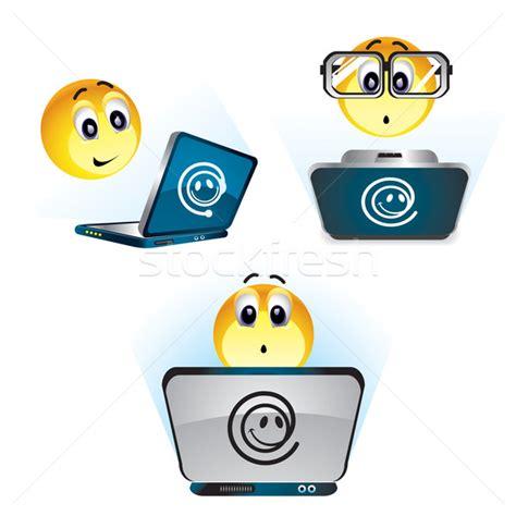 smiley bureau travail ordinateur bureau école monde