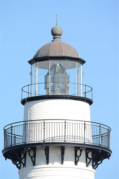 Filest Simons Lighthouse, Closeup Of Top, Georgia, Usa