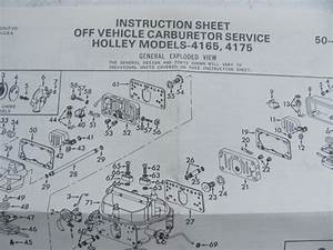 Holley 4165 Rebuild Kit Double Pumper Spreadbore Carbs