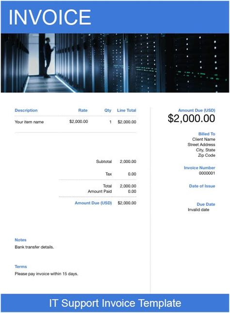 support invoice template   send  minutes
