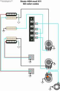 Hermetico Guitar  Wiring Diagram  Hsh Strato Mod 01