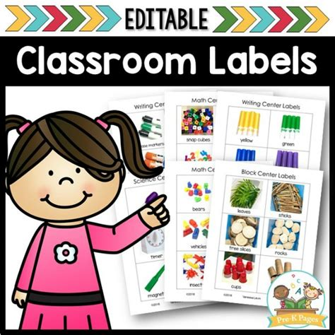 editable center labels pre k pages 855 | Editable Classroom Labels for Preschool
