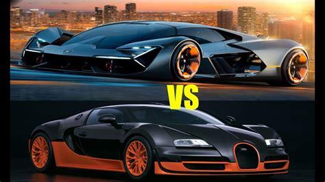 Bugatti Veyron Vs by 2018 Lamborghini Terzo Vs Bugatti Veyron Spec Compare