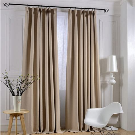 modern linen solid curtains for living room blackout hotel