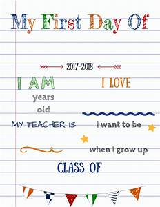 editable first day of school signs updated version with a With first day of school sign template