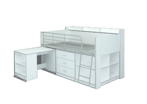 White Low Loft Bed With Desk by Low Loft Beds And Bunk Beds For Toddlers