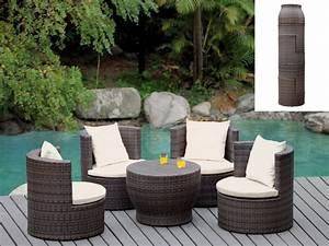 Salon De Jardin Gifi 2018 : salon r sine tress e wengu table 4 fauteuils sao paulo ~ Melissatoandfro.com Idées de Décoration