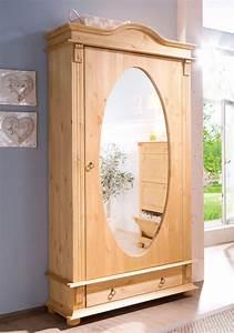 Flurschrank Mit Spiegel : home affaire garderobenschrank florenz mit spiegel ~ Watch28wear.com Haus und Dekorationen