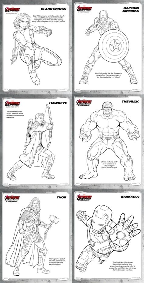avengers age  ultron review   printables