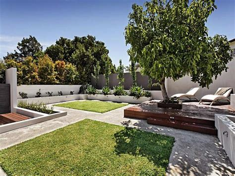 landscaped gardens landscaped garden design using grass with deck ground lighting gardens photo 261784