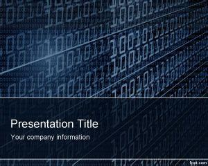 free technology powerpoint templates technology binary powerpoint template