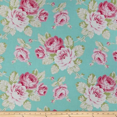 blue shabby chic material michael miller all the trimmings hang the ornaments candy home decor shabby chic and blue fabric