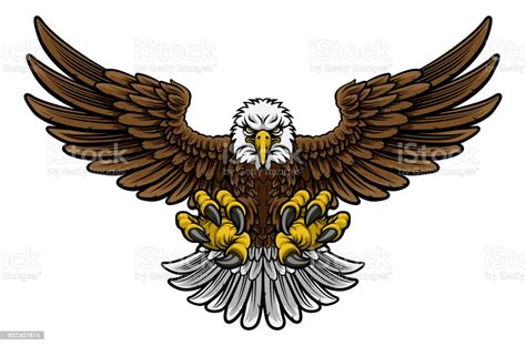 Free american eagle vector download in ai, svg, eps and cdr. Bald American Eagle Mascot Stock Illustration - Download ...