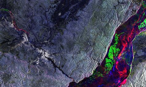 radar reveals ice movement  lake baikal earth imaging