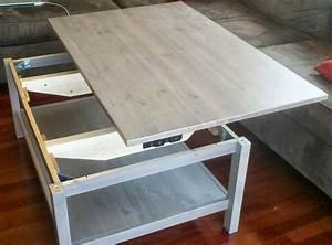 Table De Salon Ikea : table basse relevable ikea avec hemnes ~ Dailycaller-alerts.com Idées de Décoration
