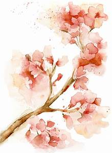 watercolor cherry blossom flower - Google Search | Art ...