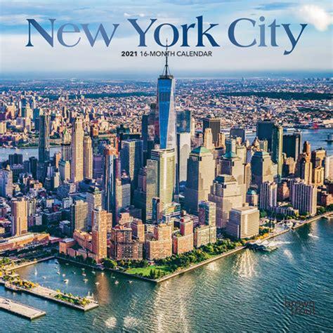 york city      monthly mini wall calendar