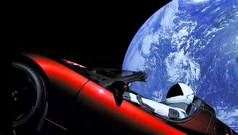 Download Tesla Car In Space Picture PNG